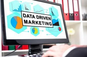 Data driven marketing concept shown on a computer screen